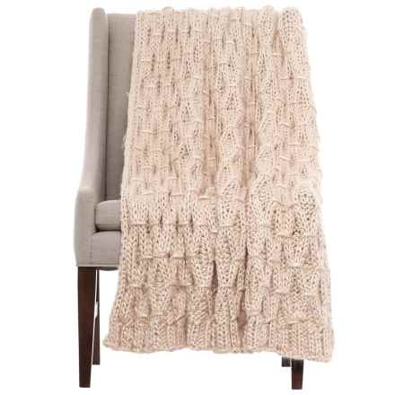 "T Tahari Tahari Linked Diamond-Knit Throw Blanket - 50x60"" in Crystal Gray - Closeouts"