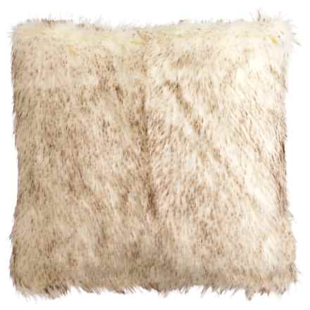 "T Tahari Tahari Telles Throw Pillow - Faux Fur, 20x20"" in Ivory - Closeouts"