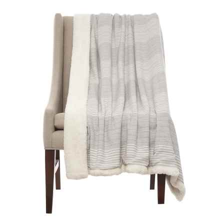 "Tabitha Webb TABITHA WEBB Pencil Stripe Throw Blanket - 50x60"" in Grey - Closeouts"