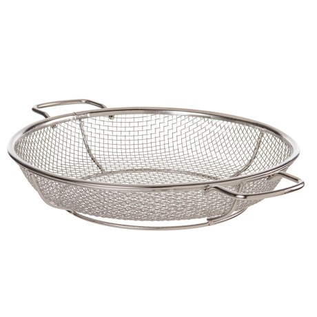 "TableCraft BBQ Round Grilling Basket - 11"", Stainless Steel in See Photo"