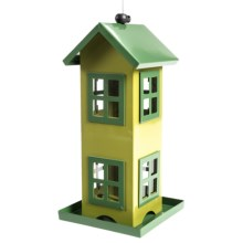 Tag 2-Story Bird Feeder - Metal in Green - Closeouts