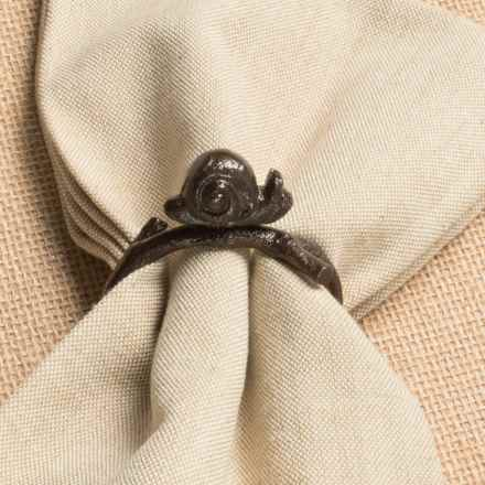 Tag Antique Napkin Ring in Antique Bronze/Snail - Closeouts
