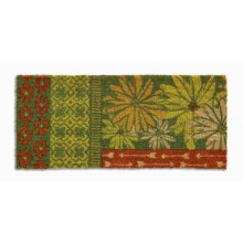 "Tag Arbor Garden Estate Entry Mat - 18x40"", Coir in Green - Closeouts"