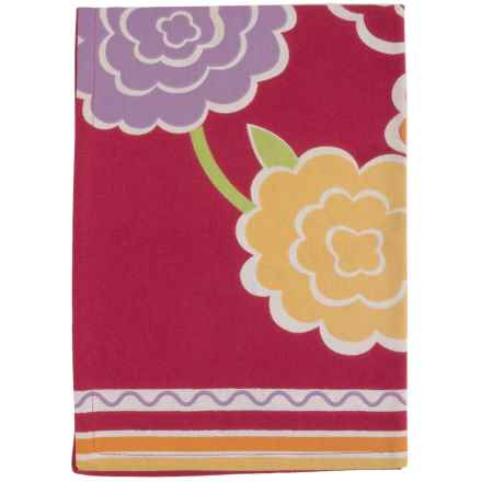 Tag Ariel Floral Dish Towel - Cotton in Red - Closeouts