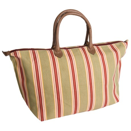 Tag Autumn Harvest Stripe Tote Bag in Multi Harvest