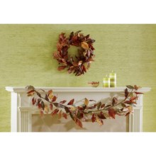 Tag Autumn Leaves Wreath in Multi  Harvest - Closeouts