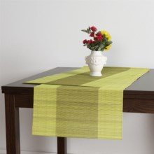"Tag Bamboo Table Runner - 72x18"" in Green - Closeouts"