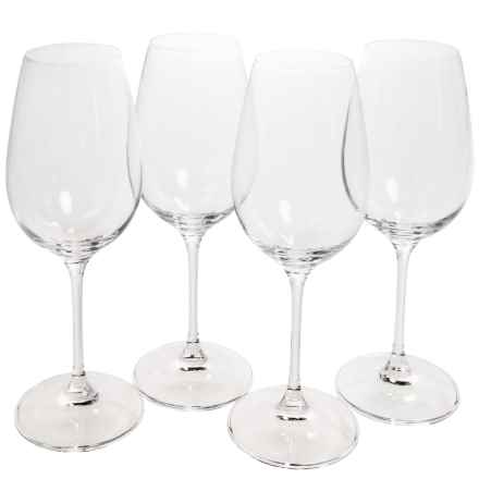 Tag Bella Collection White Wine Glasses - Set of 4 in Clear - Closeouts