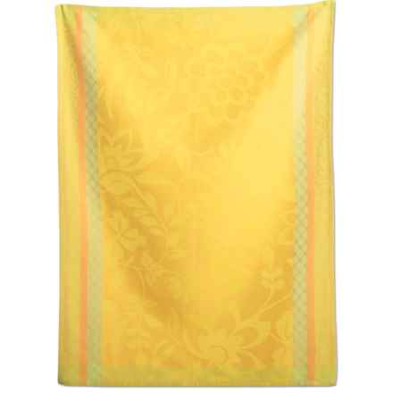 Tag Blooms Jacquard Dish Towel in Yellow - Closeouts
