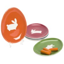 Tag Bunny Appetizer Plates - Set of 4 in See Photo - Closeouts
