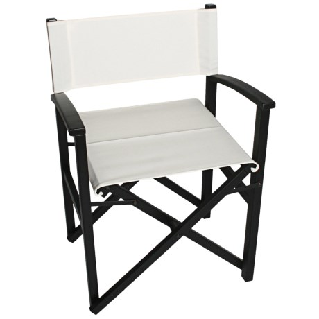 Tag Campaign Wood Frame Folding Chair in Black/White
