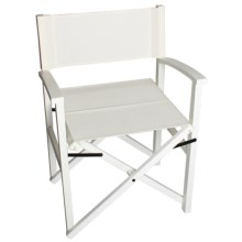 Tag Campaign Wood Frame Folding Chair in White/White - Closeouts