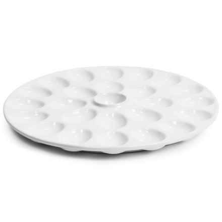 Tag Ceramic Deviled Egg Platter - Round in White - Closeouts