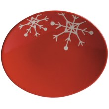 "Tag Chalet 6"" Appetizer Plates - Set of 8 in Red Snowflake - Closeouts"