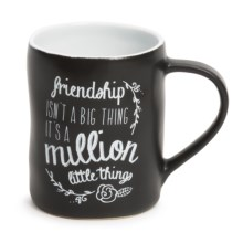Tag Chalkboard Ceramic Mug in Friendship - Closeouts