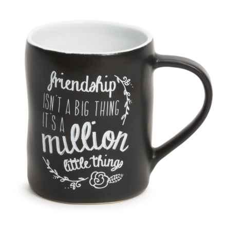 Tag Chalkboard Ceramic Mug in Friendship - Closeouts