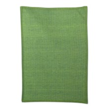 Tag Chambray Solid Waffle-Weave Dish Towel in Green - Closeouts