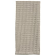 Tag Chambray Waffle-Weave Dish Towel in Gray - Closeouts
