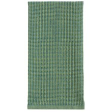 Tag Chambray Waffle-Weave Dish Towel in Green - Closeouts