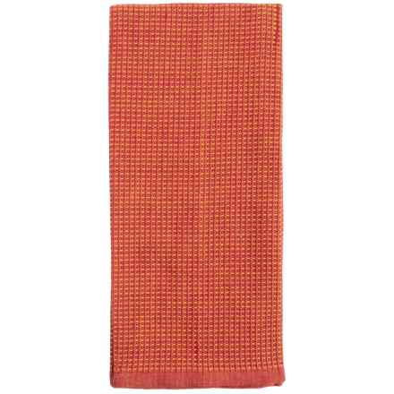 Tag Chambray Waffle-Weave Dish Towel in Red - Closeouts
