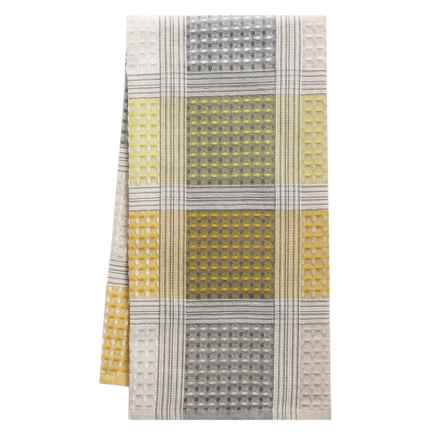 Tag Check Waffle-Weave Dish Towel in Yellow - Closeouts