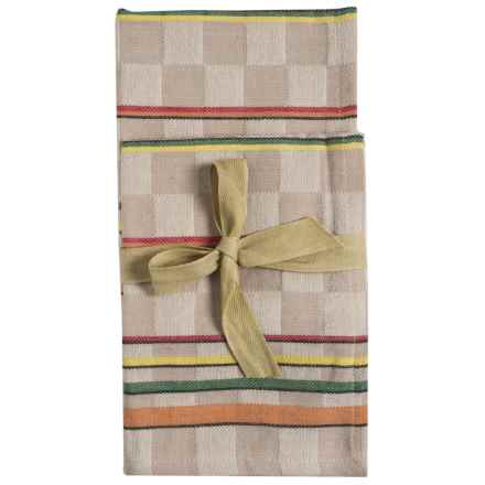 Tag Checkered Stripe Dish Towels - 2-Pack in Multi - Closeouts