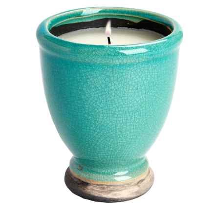 Tag Citronella Artisan Candle Pot in Light Aqua - Closeouts