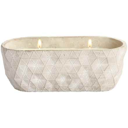 Tag Citronella Candle Pot - Dual-Wick in Gray - Closeouts