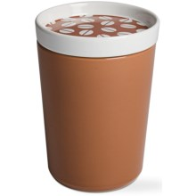 Tag Coffee Bean Canister - Medium, Stoneware in Nutmeg - Closeouts
