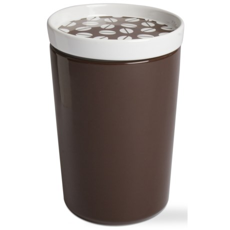Tag Coffee Bean Canister - Stoneware, Large in Coffee