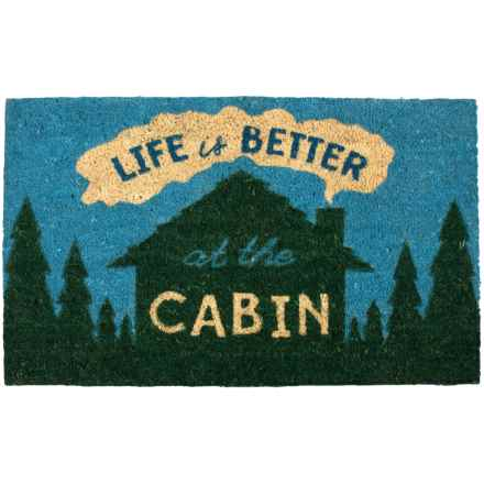 "Tag Coir Door Mat - 18x30"" in At The Cabin - Closeouts"