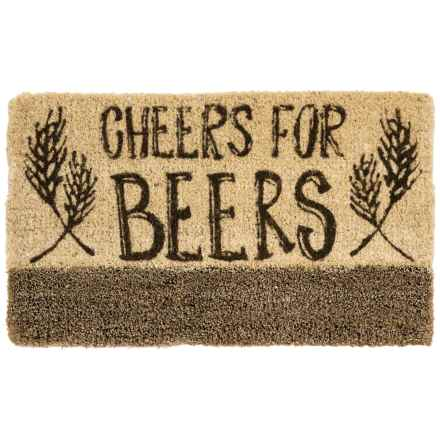 "Tag Coir Doormat - 18x30"" in Cheers For Beer - Closeouts"