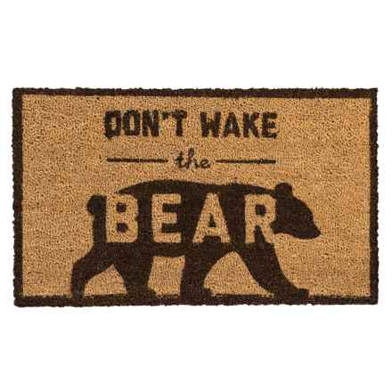 "Tag Coir Doormat - 18x30"" in Don'T Wake The Bear - Overstock"