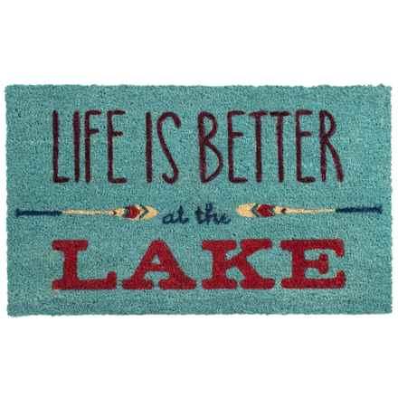 """Tag Coir Doormat - 18x30"""" in Life Is Better - Overstock"""