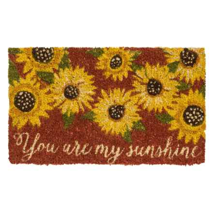 "Tag Coir Doormat - 18x30"" in Sunflower/Sunshine - Closeouts"