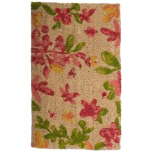 "Tag Coir Entry Mat - 18x30"" in Blossoms - Closeouts"