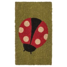 "Tag Coir Entry Mat - 18x30"" in Ladybug - Closeouts"