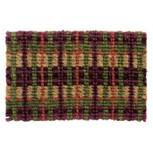"Tag Coir Entry Mat - 18x30"" in Market Plaid - Closeouts"
