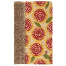 "Tag Coir Entry Mat - 18x30"" in Sunflower/Brown - Closeouts"