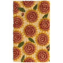 "Tag Coir Entry Mat - 18x30"" in Sunflower - Closeouts"