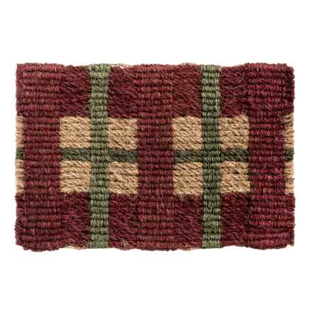 "Tag Coir Entry Mat - 18x30"" in Vintage Plaid - Closeouts"