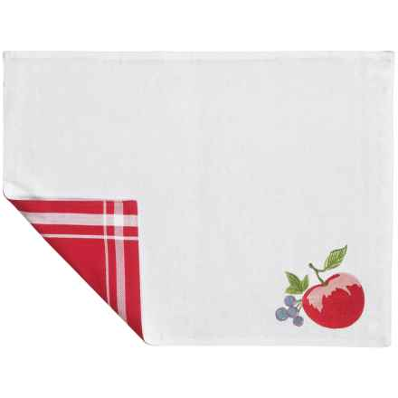 Tag Corelle Collection Embroidered Placemat - Cotton in Chutney - Closeouts