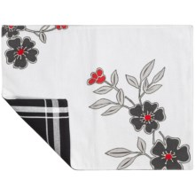 Tag Corelle Collection Embroidered Placemat - Cotton in Mandarin - Closeouts