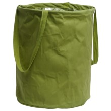 "Tag Cotton Canvas Crunch Storage Bag - 17x13"" in Green - Closeouts"
