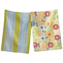 Tag Cotton Dish Towel - Set of 2 in Hana Floral - Closeouts