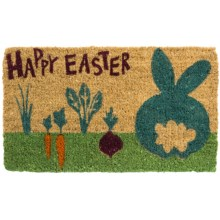 "Tag Easter Entry Mat - 18x30"", Coir in Cottontail - Closeouts"