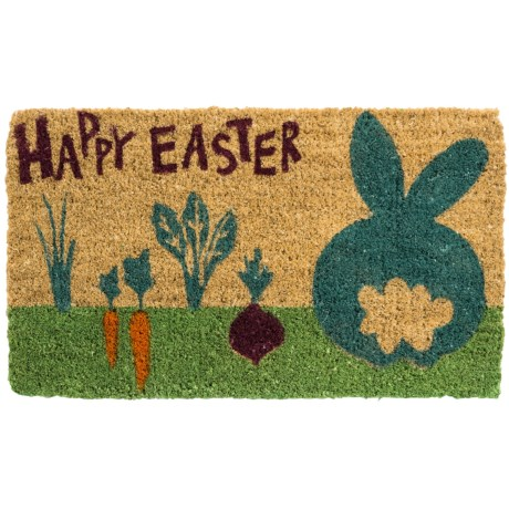 "Tag Easter Entry Mat - 18x30"", Coir in Cottontail"