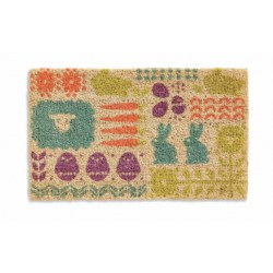 "Tag Easter Parade Entry Mat - 18x30"", Coir in Multi"