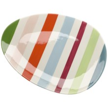 Tag Easter Stripe Oval Platter in See Photo - Closeouts
