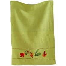 Tag Embroidered Waffle Weave Dish Towel in Blossoms - Closeouts